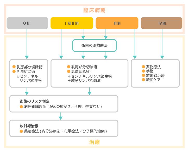 乳がんのステージ分類とサブタイプ分類による治療選択